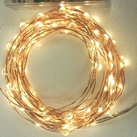 100 Warm White LEDs on Copper or Silver Wire